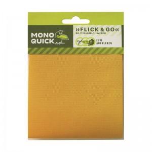 Flickstoff Köper zum Aufbügeln 10 x 20 cm gelb