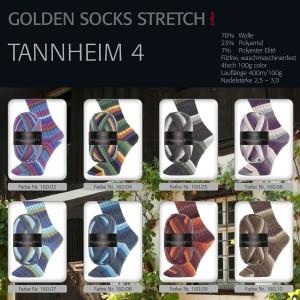 GOLDEN SOCKS STRETCH color TANNHEIM 4 100g ~ 400m
