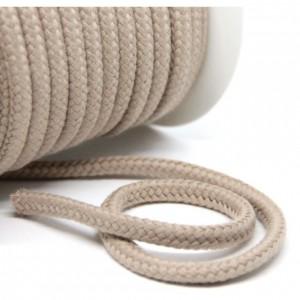 Baumwollkordel 10 mm beige VE50 cm
