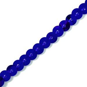 Paillettenborte royalblau 6mm