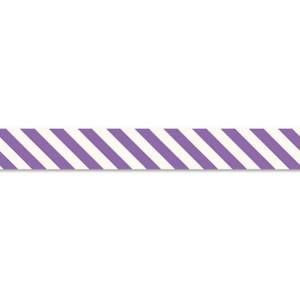 Schrägband 20mm/3m - lila/weiß gestreift