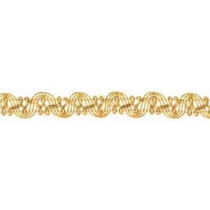 Brokatborte gold 15mm / 1,5m