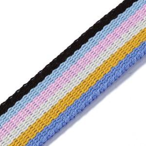 Gurtband für Taschen, 30mm, blau/mehrfarbig