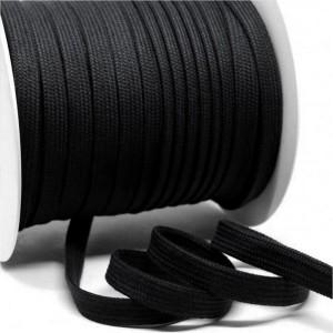 Flachkordel 10mm aus Baumwolle schwarz