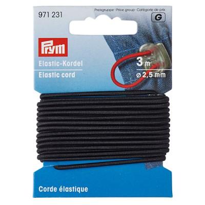 Elastic-Kordel 2,5mm schwarz, 3m