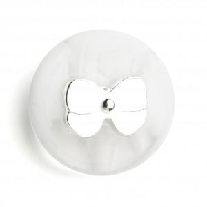 Knopf mit Schleife 21 mm, Weiß