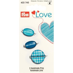 handmade Label blau