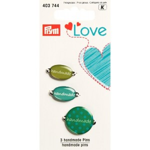 Prym Love handmade Label / grün sortiert 3 St