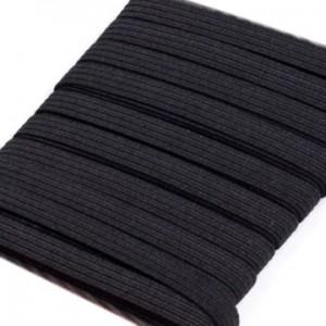 Gummiband 5 mm / 5 m / schwarz