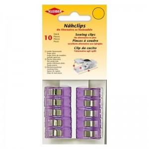 Nähclips violett 10 St