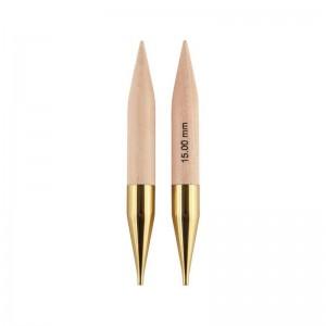 austauschbare Rundstricknadeln basix Birch 15,00 mm 115 mm 1 Paar