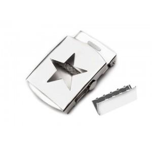 Gürtelschnalle mit Stern 30 mm