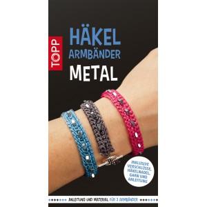 Häkelarmbänder Set Metal